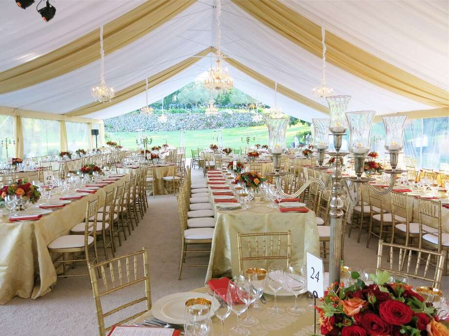 "Interior of the ""Bella Italia"" tent at Far Niente Winery. Photo: Catherine Bigelow"