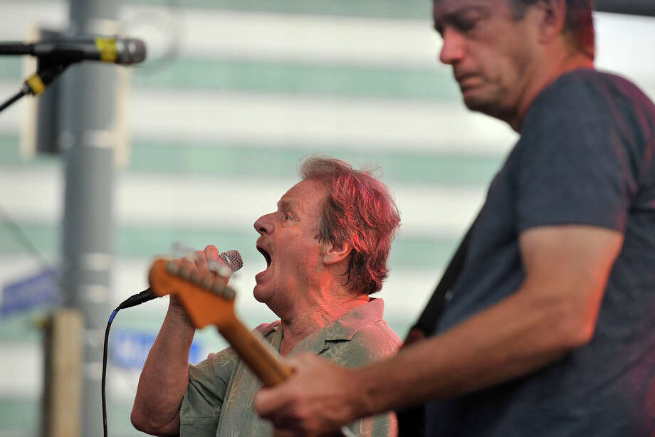 Delbert McClinton, left, performs during Jazz Up July in Columbus Park in downtown Stamford, Conn., on Wednesday, July 23, 2014. Hearst Connecticut Media Group is a sponsor of the event. Photo: Jason Rearick / Stamford Advocate