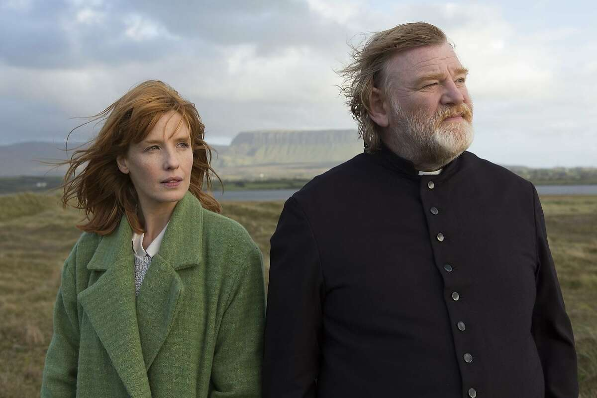 """Father and daughter: Kelly Reilly as Fiona and Brendan Gleeson as Father James in """"Calvary."""""""