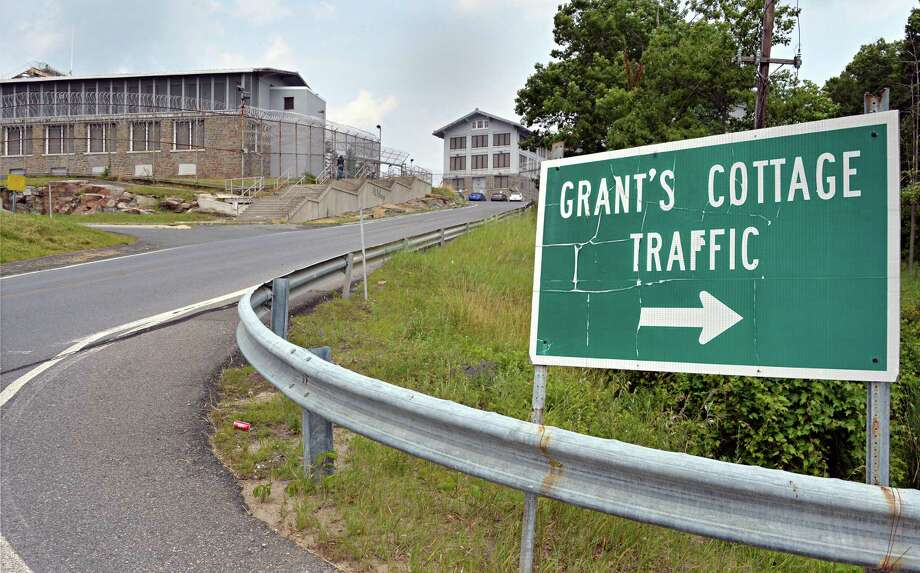 Entrance to Grant's Cottage on the grounds of the Mount McGregor Correctional Facility Wednesday July 23, 2014, in Wilton, N.Y.  (John Carl D'Annibale / Times Union) Photo: John Carl D'Annibale / 00027767A