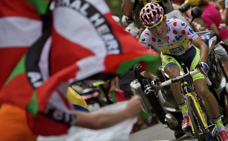 Poland's Rafal Majka retained the polka dot jersey — which goes to the best climber — with his victory in Wednesday's Stage 17. Photo: Jeff Pachoud / AFP / Getty Images / JEFF PACHOUD