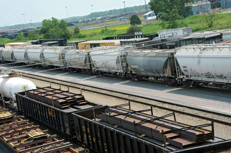 Rail cars are parked at the CSX rail yard on Wednesday, July 23, 2014, in Selkirk, N.Y. (Lori Van Buren / Times Union) Photo: Lori Van Buren / 00027868A