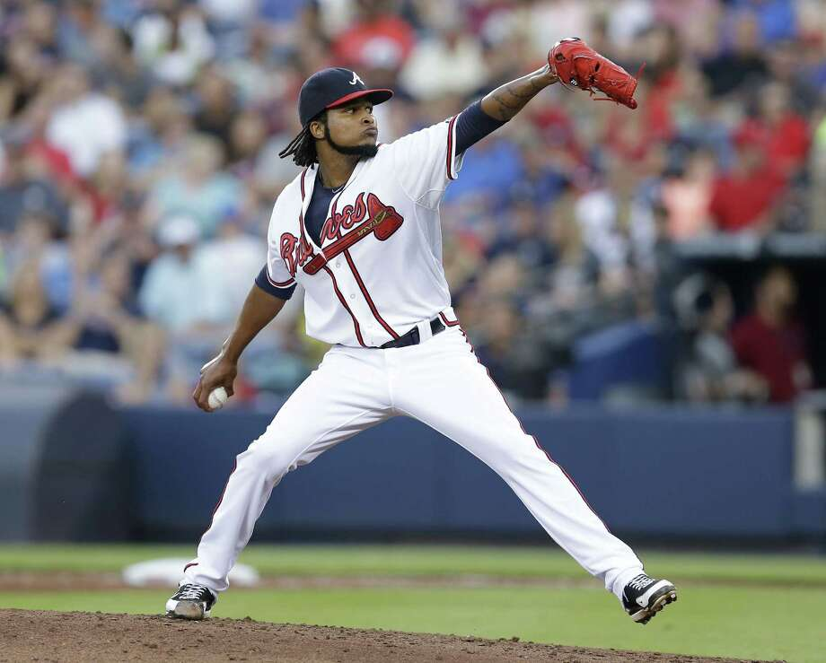 ATLANTA, GA - JULY 23:  Pitcher Ervin Santana #30 of the Atlanta Braves throws a pitch in the third inning of the game against the Miami Marlins at Turner Field on July 23, 2014 in Atlanta, Georgia.  (Photo by Mike Zarrilli/Getty Images) ORG XMIT: 477586735 Photo: Mike Zarrilli / 2014 Getty Images