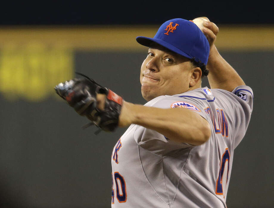 Mets starter Bartolo Colon, who has never thrown a no-hitter, was seven outs shy of a perfect game. Photo: Associated Press / AP