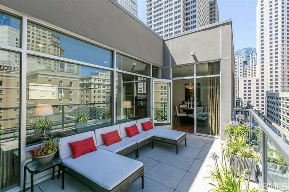 The deck right off the main entertaining space. Photo: MLS