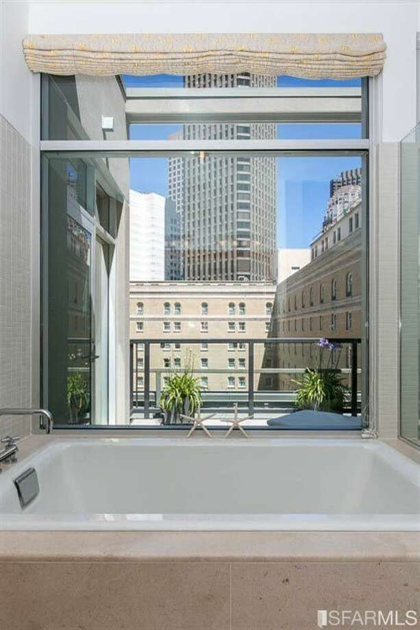 Views of SoMa from the bathtub Photo: MLS