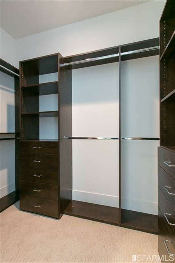 A custom walk-in closet Photo: MLS