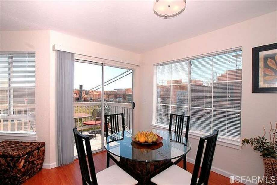 The dining area takes advantage of the home's views. Photo: MLS