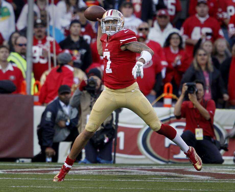 BEST CASE SCENARIOS  Colin Kaepernick, armed with a new contract and a solid cadre of receivers, adds a new element to his game – progression passing. With so many options in Stevie Johnson, Anquan Boldin, Brandon Lloyd and Vernon Davis (who wakes up and realizes he is actually well compensated), Kaepernick learns to stand in the pocket, read a defense and take a hit after delivering strikes with his wondrously strong arm. Firmly ensconced in the system, Kaepernick also adds the element of throwing on the run because of the confidence of knowing where his receivers are going to be. Photo: Brant Ward, The Chronicle