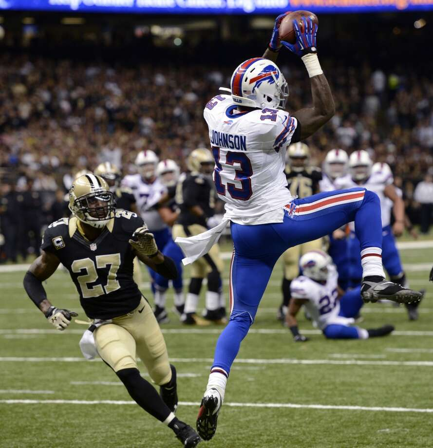 """Veteran wide receivers Stevie Johnson and Brandon Lloyd failed to live up to expectations because of injury. The risk the team took on running back Marcus Lattimore doesn't work out as he fails to return from his knee dislocation. Rookie runner Carlos Hyde becomes more invested in his social media """"El Guapo"""" persona than being a good player. Photo: Bill Feig, Associated Press"""