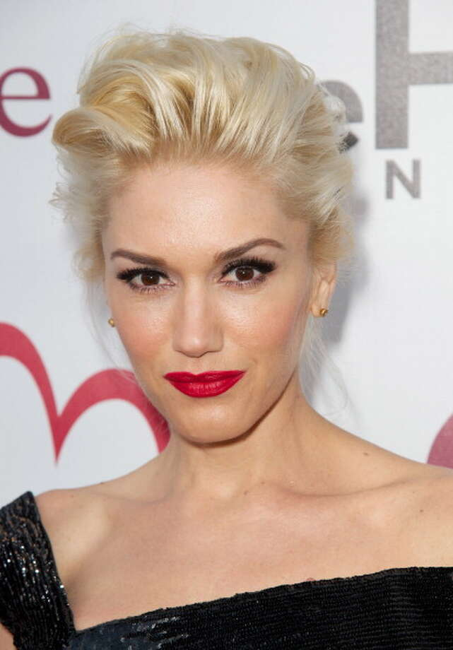 Pop star Gwen Stefani's eyes are such a dark contrast with her hair. Photo: Earl Gibson III, Getty Images / 2012 Earl Gibson III