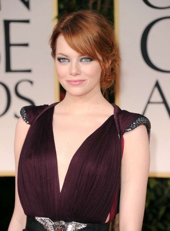 Emma Stone's green eyes really stand out. Photo: Jason Merritt, Getty Images / 2012 Getty Images