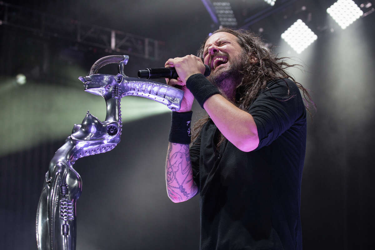 Korn performs during Mayhem Festival at Saratoga Performing Arts Center in Saratoga Springs on Wednesday, July 23, 2014.