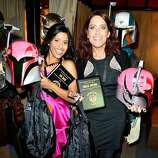 Actresses Tiya Sircar and Vanessa Marshall attend Hitfix and Lucasfilm's Comic-Con Kick off party during Comic-Con International 2014 at Hotel Solamar on July 23, 2014 in San Diego, California.