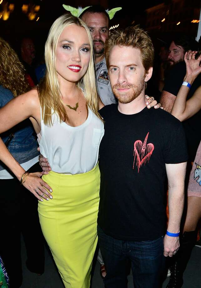 Actors Clare Grant and Seth Green attend Hitfix and Lucasfilm's Comic-Con Kick off party during Comic-Con International 2014 at Hotel Solamar on July 23, 2014 in San Diego, California.  Photo: Jerod Harris, Getty Images