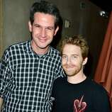 Actor Seth Green (R) and guest attend Hitfix and Lucasfilm's Comic-Con Kick off party during Comic-Con International 2014 at Hotel Solamar on July 23, 2014 in San Diego, California.