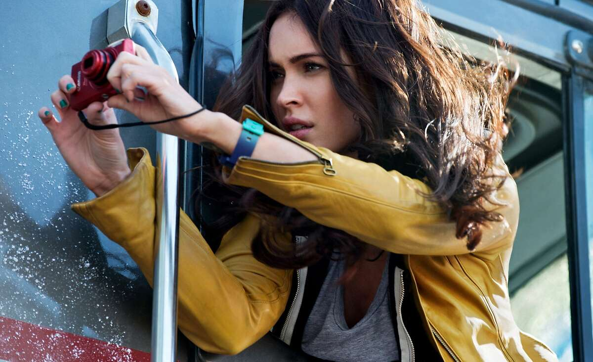 This photo released by Paramount Pictures shows Megan Fox as April O'Neil in the film,