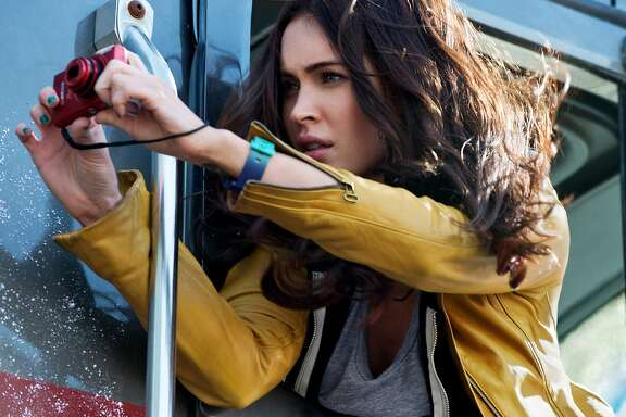 "This photo released by Paramount Pictures  shows Megan Fox as April O'Neil in the film, ""Teenage Mutant Ninja Turtles,"" from Paramount Pictures. (AP Photo/Paramount Pictures, David Lee)"