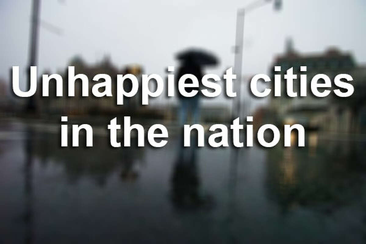 A study by the U.S. National Bureau of Economic Research reveals the 10 happiest and unhappiest cities in the nation. A favorite coastal town is the only place in Texas to be named one of the happiest cities in the nation.Click through the slideshow to see the top 10 unhappiest and happiest cities in the nation, plus real estate available in Texas' happiest city.