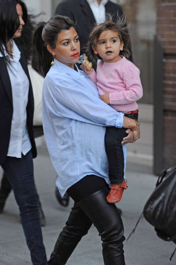 Kourtney Kardashian and Mason Dash  Photo: Josiah Kamau, Getty Images / 2012 BuzzFoto