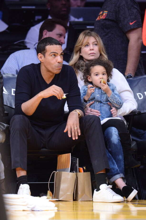 Chris Ivery, Ellen Pompeo and their daughter Stella Luna Photo: Noel Vasquez, Getty Images / 2014 Noel Vasquez