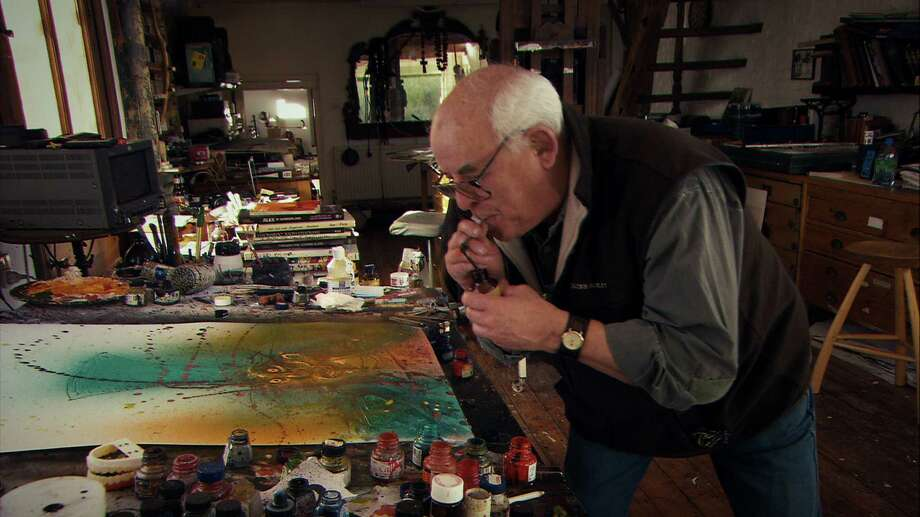 Ralph Steadman was best known for the ink-splat drawings he created to illustrate the writings of  gonzo journalist Hunter S. Thompson. Photo: Charlie Paul, Sony Pictures