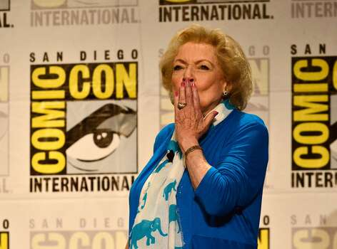 Betty White speaks onstage at TV Land's Legends Of TV Land Panel during the 2014 Comic Con International Convention at Hilton Bayfront on July 24, 2014 in San Diego, California.  Photo: Jerod Harris, Getty Images For TV Land