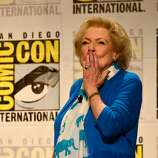Betty White speaks onstage at TV Land's Legends Of TV Land Panel during the 2014 Comic Con International Convention at Hilton Bayfront on July 24, 2014 in San Diego, California.