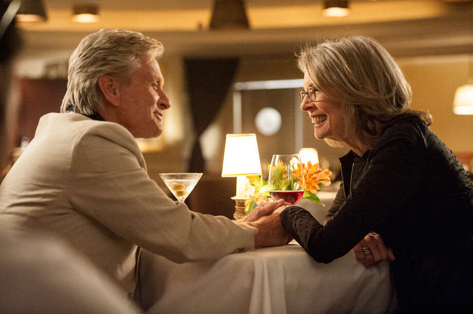 Oren (MICHAEL DOUGLAS) makes a move on Leah (DIANE KEATON) in AND SO IT GOES. Photo Credit: Clay Enos/Clarius Entertainment Photo: Clay Enos