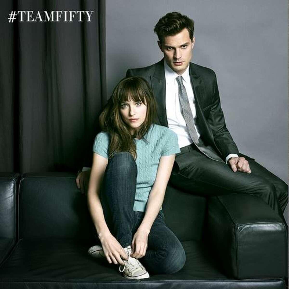 Jamie Dornan will play hunky Christian Grey and Dakota Johnson will play lip-biting Anastasia Steele in the movie adaption of