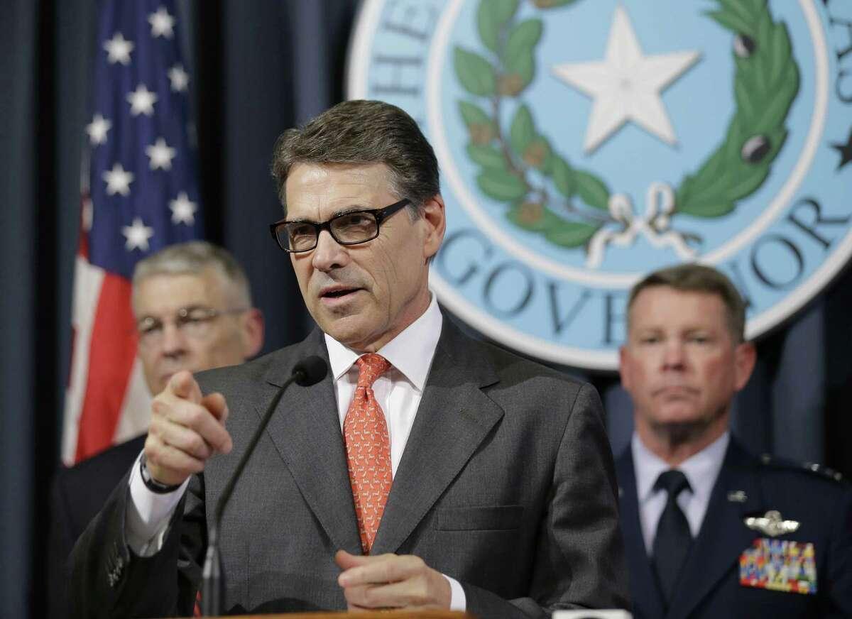 Gov. Rick Perry announces he is deploying up to 1,000 National Guard troops over the next month to the Texas-Mexico border - a move criticized by some readers.