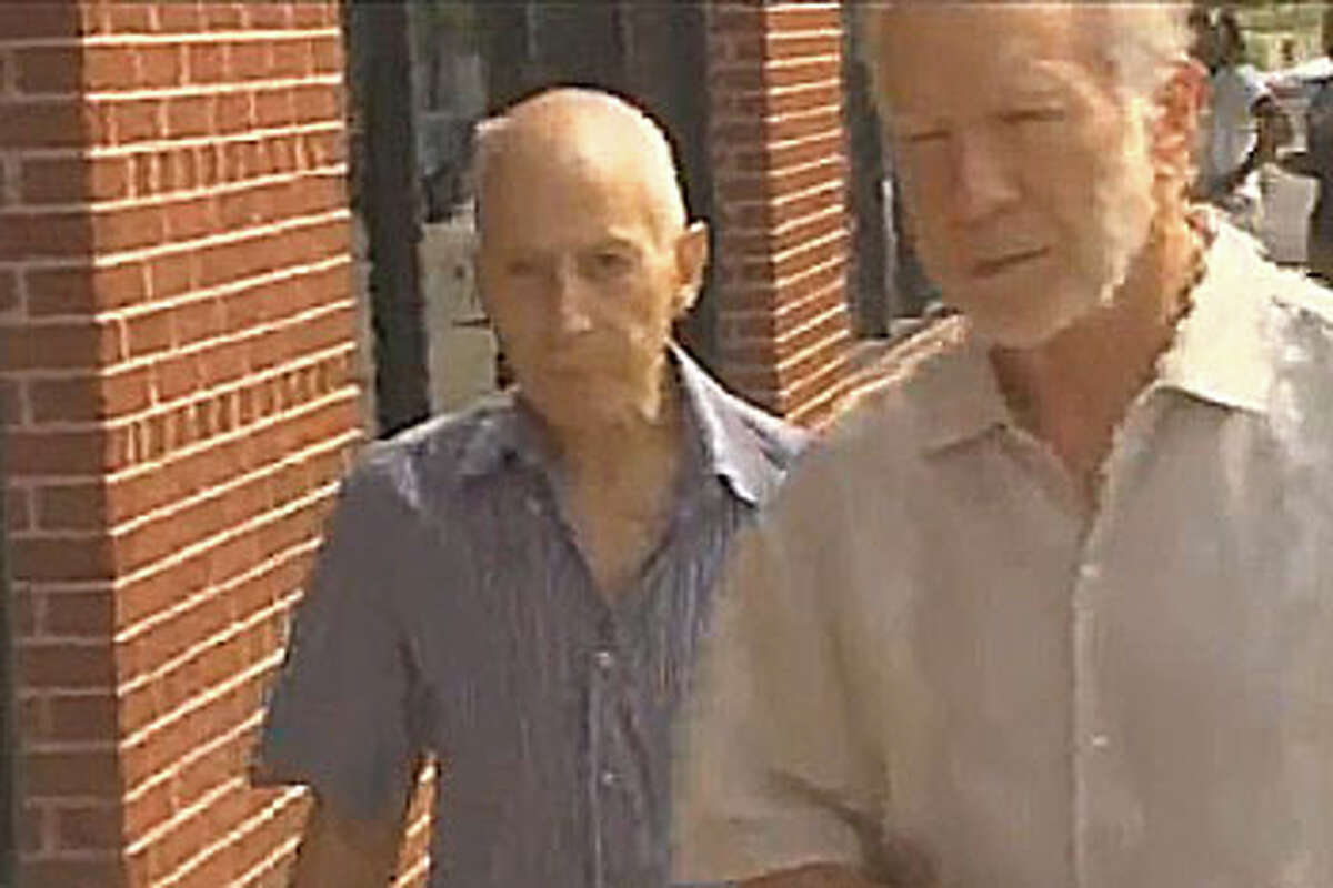Robert Durst, the real estate heir who was acquitted in the murder of a Galveston man, turned himself in Wednesday after being charged with criminal mischief. Frame grab courtesy of KHOU