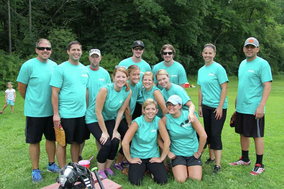 A dozen nurses from the pediatric intensive care unit at the Bernard & Millie Duker Children's Hospital at Albany Medical Center played in the Maddies?s Mark Foundation softball fundraiser at Nott Road Field in Guilderland on Saturday, July 19. (Submitted photo)