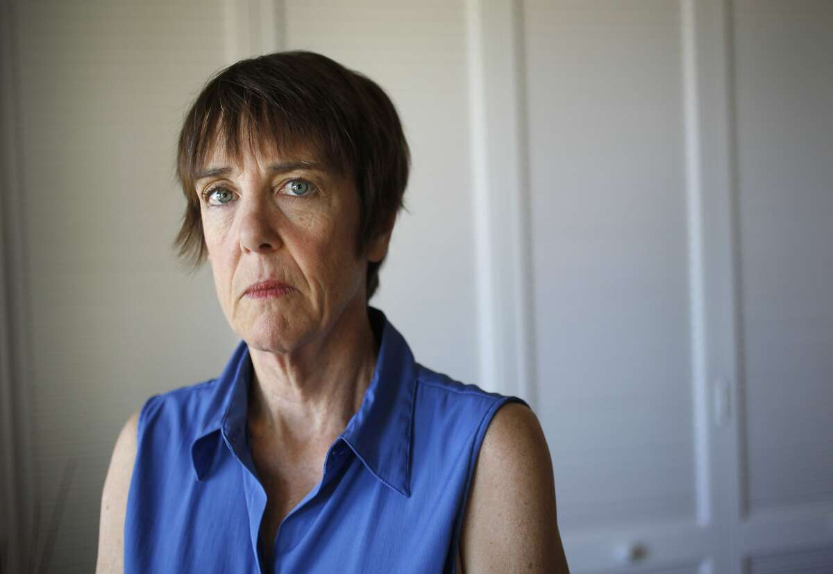 """Vicki Morse, 55, pictured June 11, 2014 in her mother's home in Walnut Creek, Calif. Morse, who is a Registered Nurse and also has a Master of Science in Nursing, taught at Intercoast College for about a year and a half before being fired for what she thought was telling students the truth about their counterpart's exceptionally high licensing exam fail rate. According to Morse, the first group of students she taught had a 70 percent fail rate. """"I couldn't control the resources they weren't getting so they could do their best,"""" said Morse. In March, the school fired her, siting student truancy rates for her class. Morse thinks the school was unhappy with her honesty with students. She recently got a new teaching job."""
