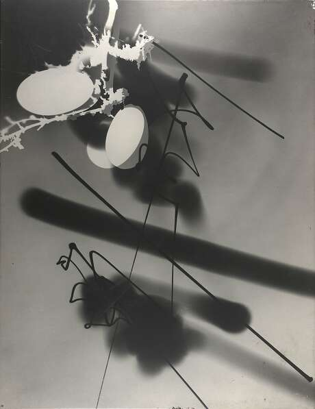 """Light Graphic, Photogenic"" (1945) is a photographic enlargement on particleboard by György Kepes (1906-2001). Photo: Gyorgy Kepes, Cantor Arts Center, Stanford"