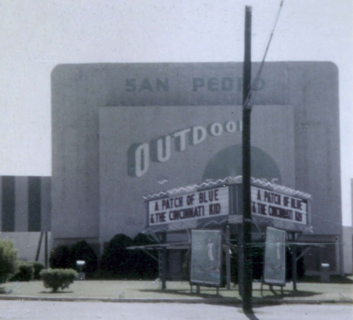 The San Pedro Outdoor was a drive-in built in 1948 and purchased by Louis Santikos in 1960. It was demolished in 1984 to build the indoor multiscreen Embassy that opened in 1987.
