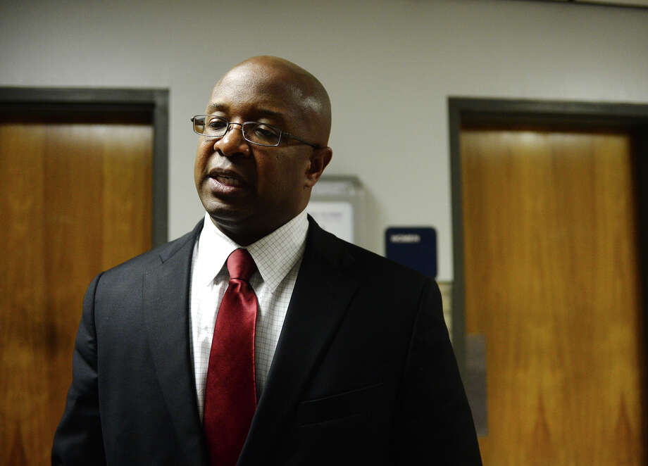 Superintendent Dr. Timothy Chargois talks with the Beaumont Enterprise after Monday's meeting. The BISD board of trustees met Monday night to discuss reduction in force measures, which may possibly lead to the elimination of more than 200 positions. Photo taken Monday 6/9/14 Jake Daniels/@JakeD_in_SETX Photo: Jake Daniels / ©2014 The Beaumont Enterprise/Jake Daniels