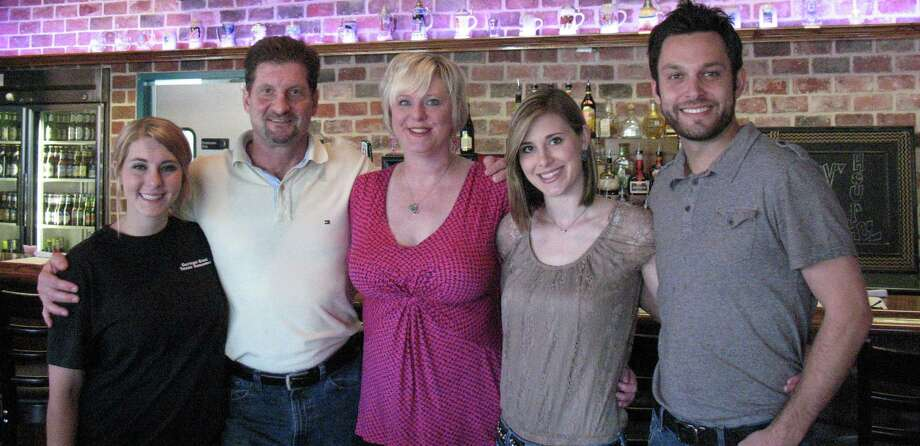Bavarian Brauhaus is a family affair with (from left) Rachel, Ralph, Carrie and Kristen Richardson and Reid Hill. Photo: Ellery Jividen / San Antonio Express-News