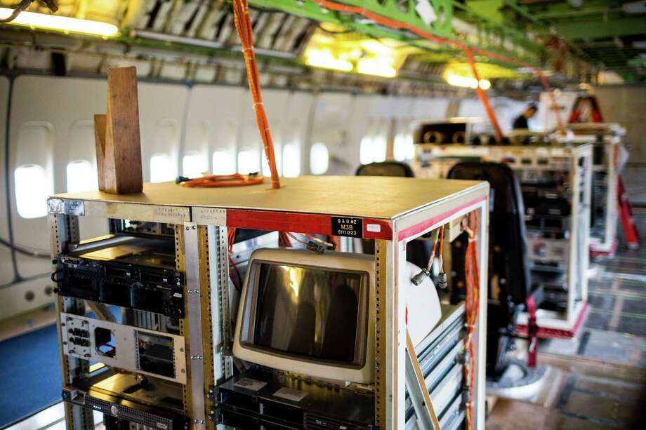 Lines of flight equipment within the original Boeing 747 prototype Thursday, July 24, 2014, at The Museum of Flight in Seattle, Wash. Photo: JORDAN STEAD, SEATTLEPI.COM / SEATTLEPI.COM