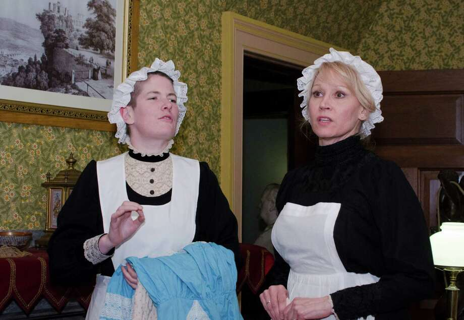 "A celebratory gathering on Feb. 9, 1885, at Mark Twain's Hartford mansion will be re-created during ""Beck & Call --The Servants Tour"" on Friday evenings, Aug.1 and Sept. 5. Photo: Contributed Photo / Connecticut Post Contributed"
