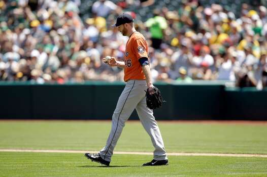 July 24: Athletics 13, Astros 1  It was a long day for Scott Feldman and Co. in the series finale.  Record: 42-60. Photo: Ezra Shaw, Getty Images