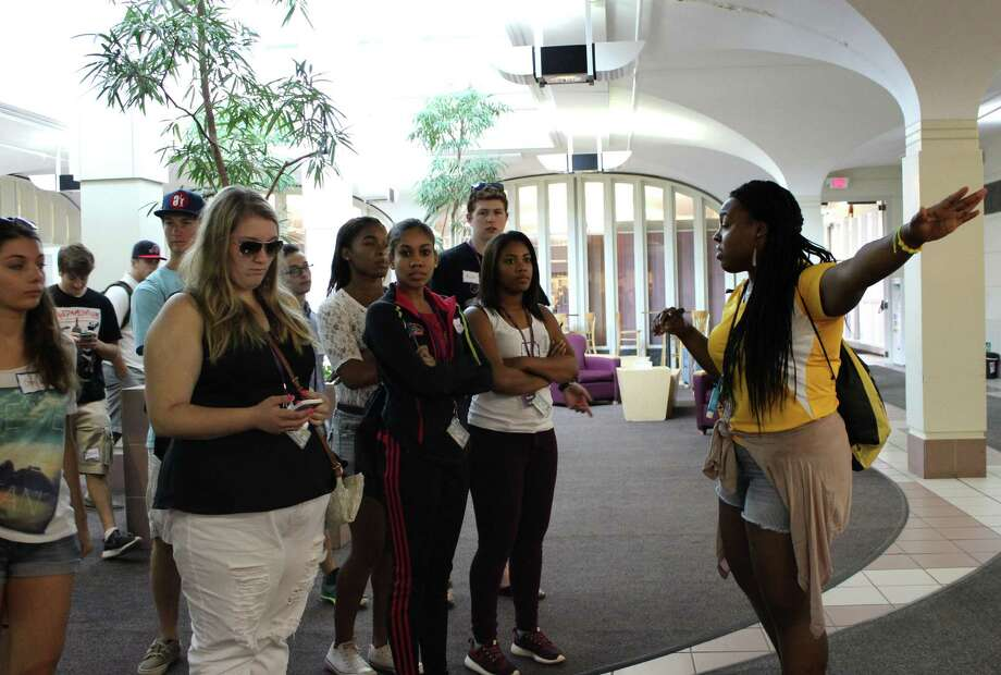 Future SUNY Albany students during an orientation tour on Thursday afternoon, July 24, 2014, in Albany N.Y. (Selby Smith/Special to the Times Union) Photo: Selby Smith / 00027931A