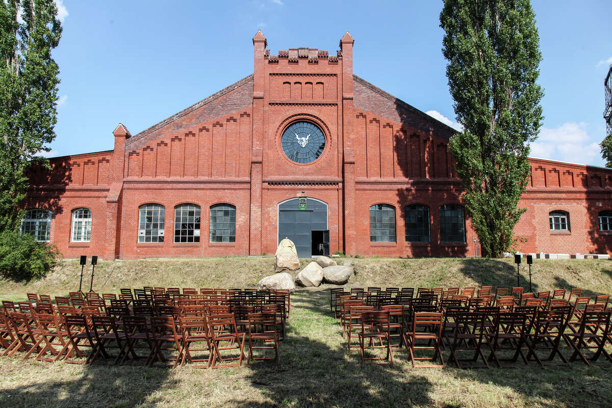 This building, part of a former gasworks plant in Berlin, will be renovated as the main hall of Stone Brewing Co.'s first European brewery. Shown here on July 19, 2014, when the project was formally announced.