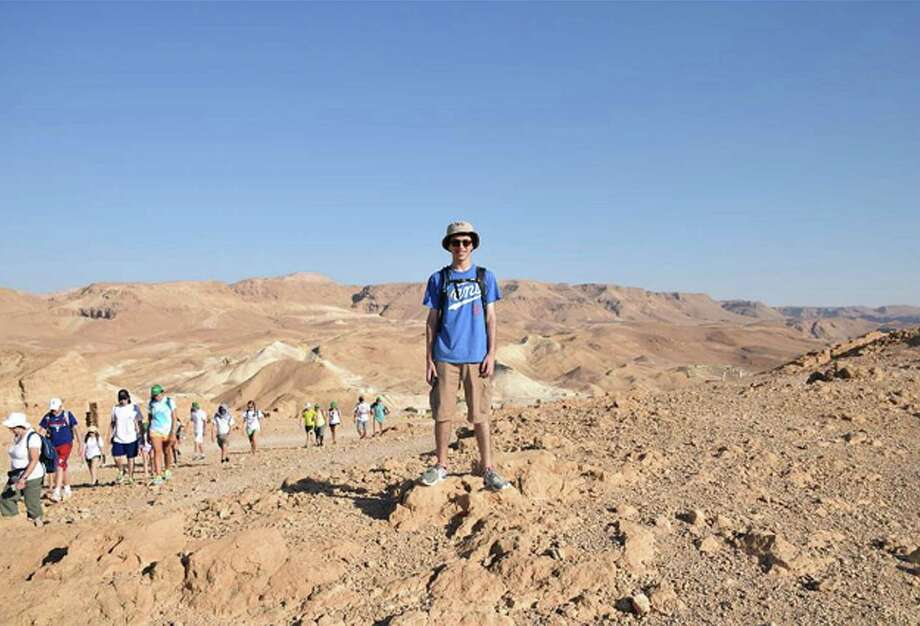 Skylar Morley, 17, of Ridgefield, is shown during a trip to Israel with his Jewish leadership group from July 1 to July 21. Photo: Contributed Photo / The News-Times Contributed
