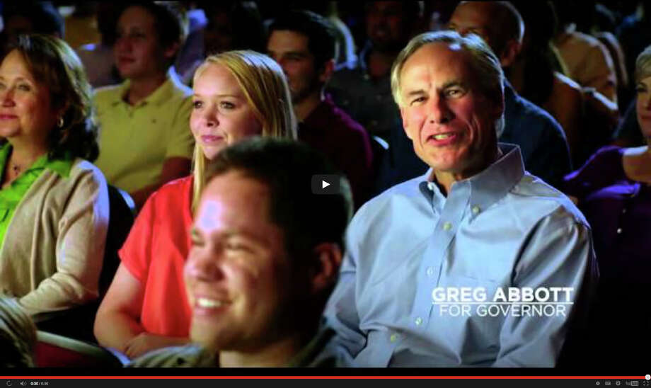 In his ad, Greg Abbott encourages viewers to join his texting campaign. Alamo Drafthouse responded by saying he would be ejected if he texted in its theaters. Photo: You Tube / You Tube