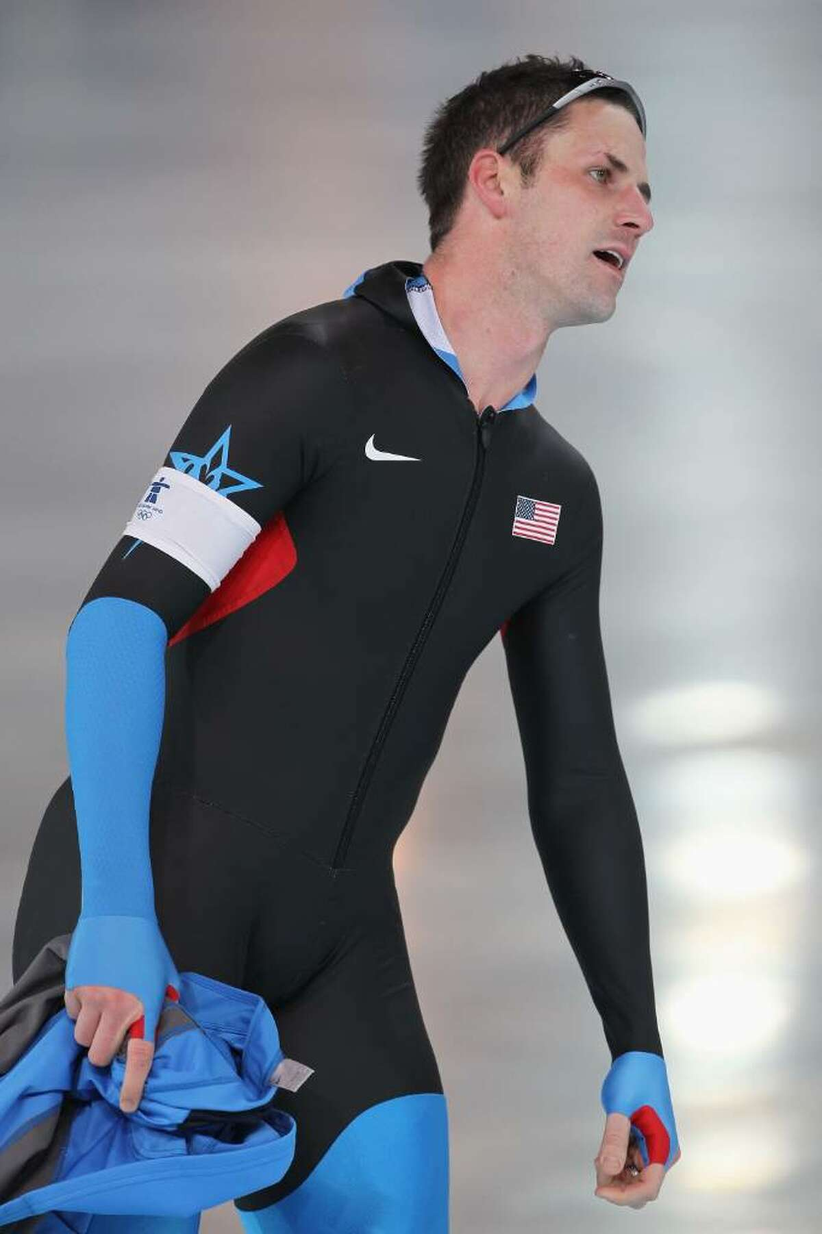VANCOUVER, BC - FEBRUARY 17: Chad Hedrick of the United States after his men's speed skating 1000 m finals on day six of the Vancouver 2010 Winter Olympics at Richmond Olympic Oval on February 17, 2010 in Vancouver, Canada. (Photo by Jamie Squire/Getty Images) *** Local Caption *** Chad Hedrick