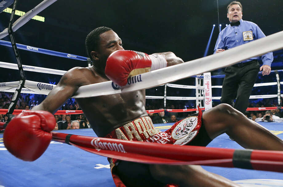 Adrien Broner was defeated by Marcos Maidana on Dec. 14 at the Alamodome. He won't be back for his next bout after choosing his hometown of Cincinnati over the AT&T Center. Photo: Edward A. Ornelas, San Antonio Express-News / © 2013 San Antonio Express-News
