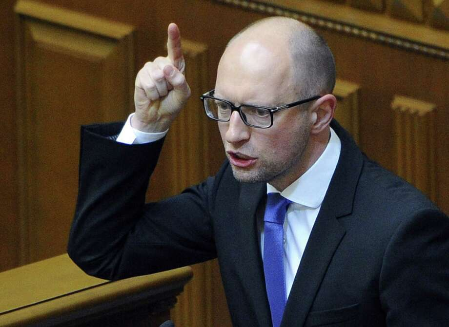 The resignation by Ukrainian Prime Minister Arseniy Yatsenyuk on Thursday may result in new elections. His party does not support the move. Photo: ANDREW KRAVCHENKO, Handout / AFP
