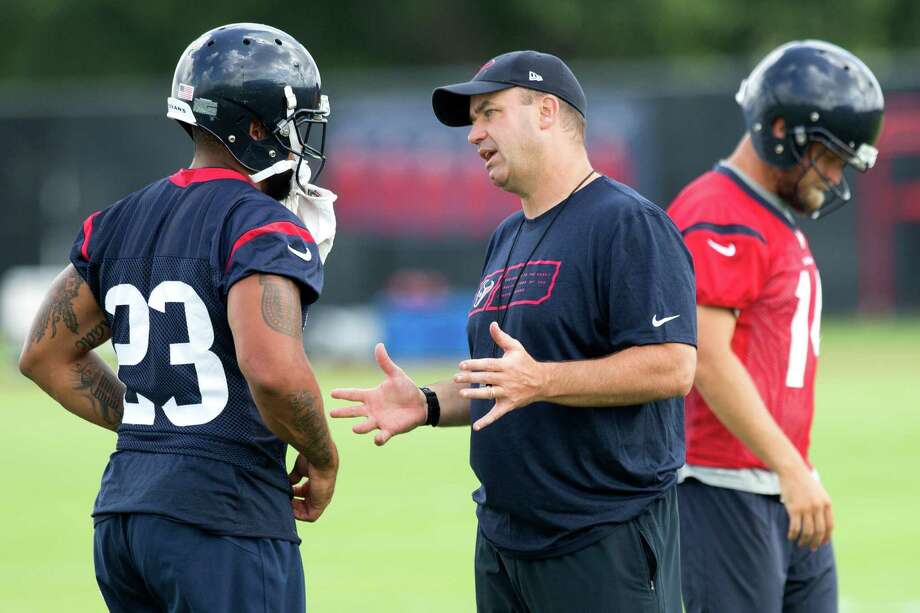 The chances of Bill O'Brien, right, succeeding as Texans coach improve greatly if running back Arian Foster stays healthy and returns to his Pro Bowl form. Photo: Brett Coomer, Staff / © 2014 Houston Chronicle