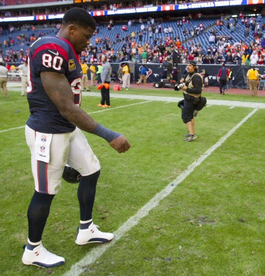 2014 2. Andre Johnson, Texans receiver. Age: 33. Last year: Honorable mention.  Why he matters: Granted, the Texans have never won with Johnson being the perfect soldier, but it's hard to imagine them mounting much of a turnaround in 2014 if he's anything less than the player – both in the huddle and the locker room – he has been the past two seasons. Take 'Dre out of the current receiver group and the Texans suddenly have the least-credentialed cadre of pass-catchers in the league working with a quarterback who's at best only marginally more credentialed. Of course, it's also arguable Ryan Fitzpatrick has been a decade-long journeyman because he has never enjoyed the luxury of having a Johnson-caliber target. Photo: Brett Coomer, Houston Chronicle